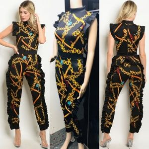 🆕️Black Mustard Jumpsuit